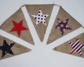 Custom order 7 pennants. Americana Bunting/Banner/Pennant