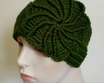 Crochet Ear Warmer Head Band - Green