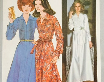 Simplicity 8249 Misses' Dress in Two Lengths Pattern, UNCUT, Size 12, Vintage Pattern, 1977, Party Dress, Retro, Wedding