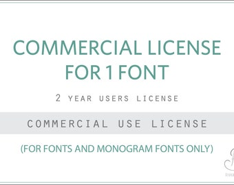 Commercial license for Rivka's Renditions FONT(s) // 2 Year agreement