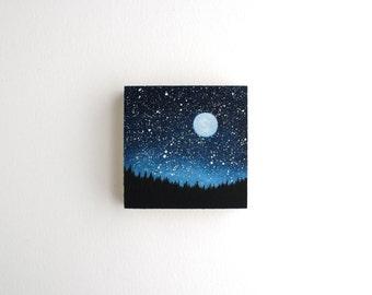 Night Sky Painting - 3 x 3