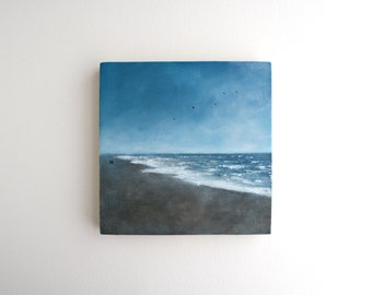 Beach Oil Painting - 6 x 6