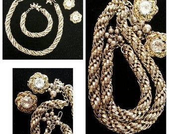 Hobe Necklace Bracelet Earrings 3 pc set