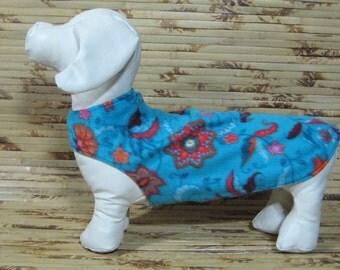 TWEENIE SIZE - Dachshund Wiener Dog Coat / Sweater / Jacket - Reversible