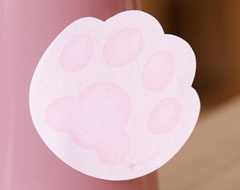 Kawaii Lovely Kitty Foot Print Sticky Index Memo Pad