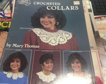 Crochet Collars by Mary Thomas American school of Needlework #1047