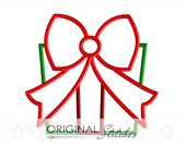 Christmas Present Birthday Gift Applique and Embroidery Digital Design File  4x4 5x7 6x10 7x11