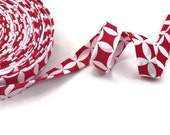 Bias Tape Double Fold Red and White Valentines Day- Half Inch