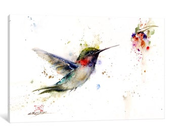 iCanvas Colibri in the Moment Gallery Wrapped Canvas Art Print by Dean Crouser