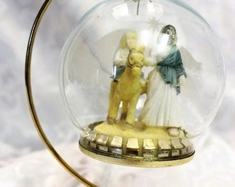 Glass Nativity Scene Christmas Ornament