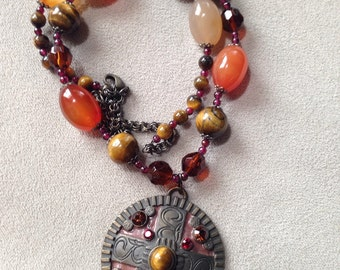 Agate & Tiger Eye Necklace