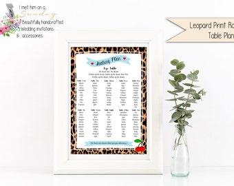 Rockabilly Leopard Print Seating Chart