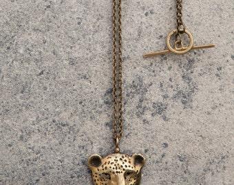 Leopard pendant / Brass