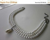 July 4 Sale 50% OFF Beautiful Faux Pearl Drop Choker Necklace