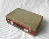 Vintage  Case wooden mini Briefcase Suitcase
