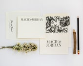 Suit & Tie Couple's Stationery