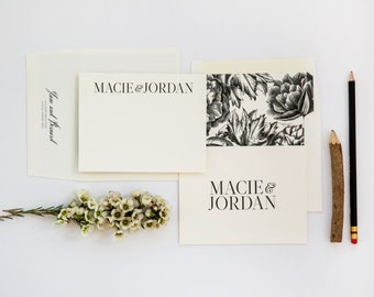 Rustic Couple's Stationery