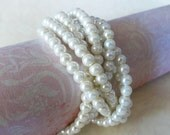 Bridesmaids Jewelry Chunky Pearl Bracelet Twisted Pearls Multi Strand Pearl Bracelet Jewelry For Bridesmaids Classic Pearl Jewelry Bridal