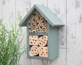 Bee Hotel, Bug Box, Insect House, Bee Box, Wildlife House, Two Tier, in 'Wild Thyme'. Can be personalised