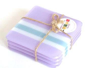 Glass Coasters Lavender Shift set of 4