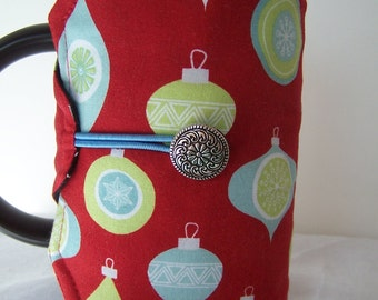 Holiday Ornament French Press Cozie, Christmas Coffee Pot Cozy, Bodum 8 Cup Press Pot Cosy, Hot Pot Sleeve Cozie