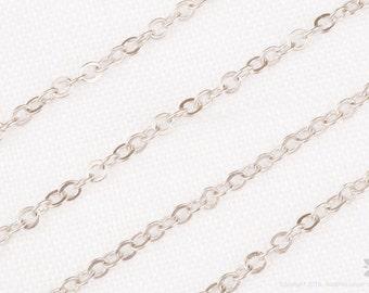 C110-MR// Matt Original Rhodium Plated Cable Chain,3M