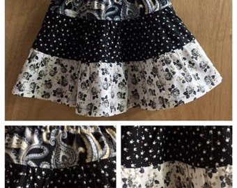 Tiered Cotton Skirt, child size 3t