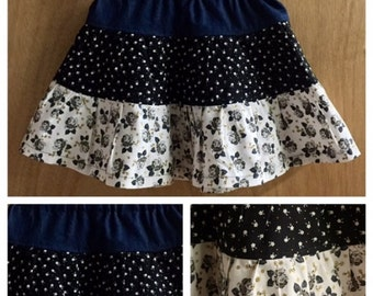 Tiered Cotton Skirt, child size 4t