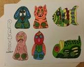 Pets Finger Paper Puppet: You Color It!