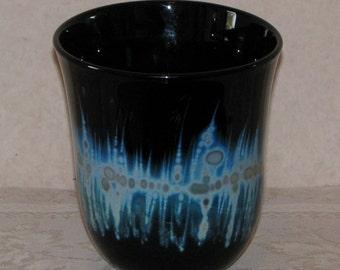 Charles Lutner Art Glass Hand Blown Vase - Signed