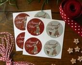 Stickers ronds de Noël