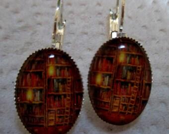 Vintage Library Earrings