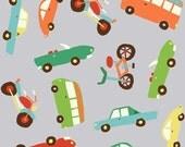Wheels 2 by Deena Rutter for Riley Blake Designs, Main Gray, SKU C5040, 1 yd