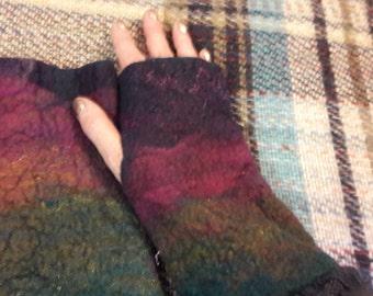 Medium sized felted arm warmers