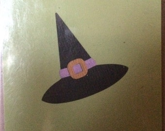 Lifestyle Crafts/Quickutz  Dies WITCHES HAT   2 X 2   Halloween and Fall Designs