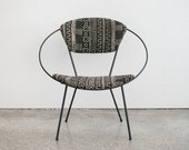 Mid Century Cicchelli Circle Chair / Mudcloth