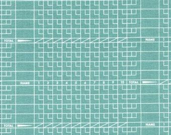 Cotton + Steel Score Card Blue/Green 1/2 yd Cut
