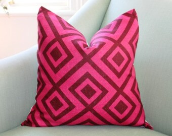 David Hicks Fiorentina Pillow Cushion Cover Magenta