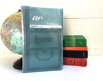 Blank RECORD BOOK | NOS Vintage c.1960's Account Book | Unused Hard-cover Journal | Blank Hard-back Book | New In Package Wedding Guest Book