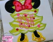 Minnie Mouse Christmas Tree Applique Shirt - Girl's shirt - Minnie Applique Shirt - Disney Vacation - Disney World Shirt