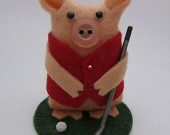 Gordon the Golfing Pig - Gift for Golfer