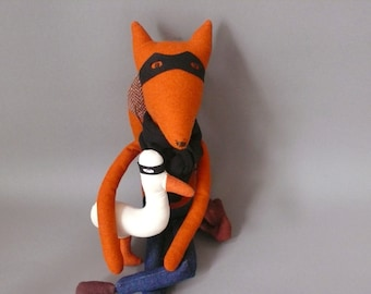 Esteban 97 Fox Plush Softie Puppet Toy Bandit