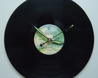 Rod Stewart A Night on the Town Vinyl Record Clock