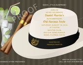 Havana Nights Party Invitation QTY. 25-100 - Pricing includes PRIORITY shipping