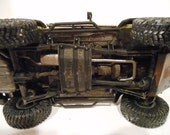 Classicwrecks, Scale Model, Rusted, Jeep Car,Yellow,Four Wheel Vehicle