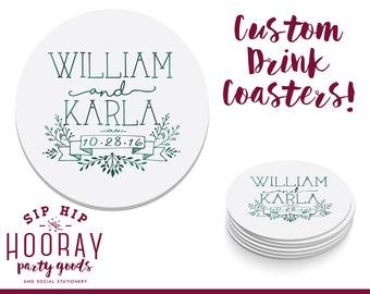 Wedding Coasters, Personalized Coasters, Custom Wedding Coasters, Custom Coaster, Wedding Favors, Personalized Wedding Favor, Coasters, 1437