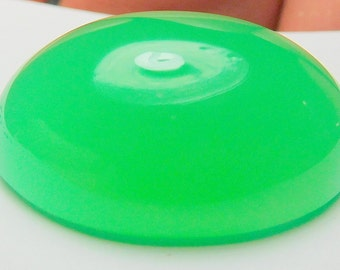 Chrysoprase designer cab glowing green AAA+  maraborough  oval 30.01 ct.Eye clean cabochon