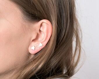 Modern Ear Cuff, Gold studs,Gold Earring Pin,Ear Jackets, Ear Climbers, Earrings,Stud Earrings