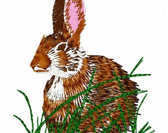 Rabbit Embroidery Design - Instant Download