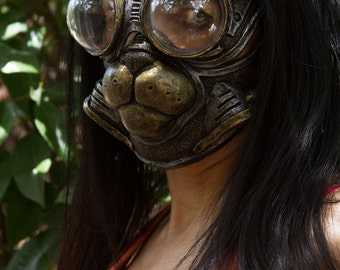 """Sexy Egyptian """"Bast"""" Cat Gas Mask and Froggle combo cosplay fetish larp halloween on Sale Now  25% off!!"""